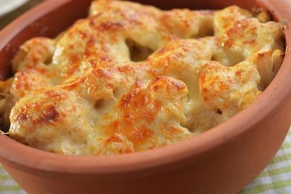 Gratin de chou fleur boulgour et muscade karine bastie - Choux de bruxelles recette gratin ...