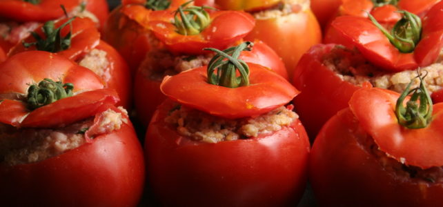 Tomates farcies poulet / feta