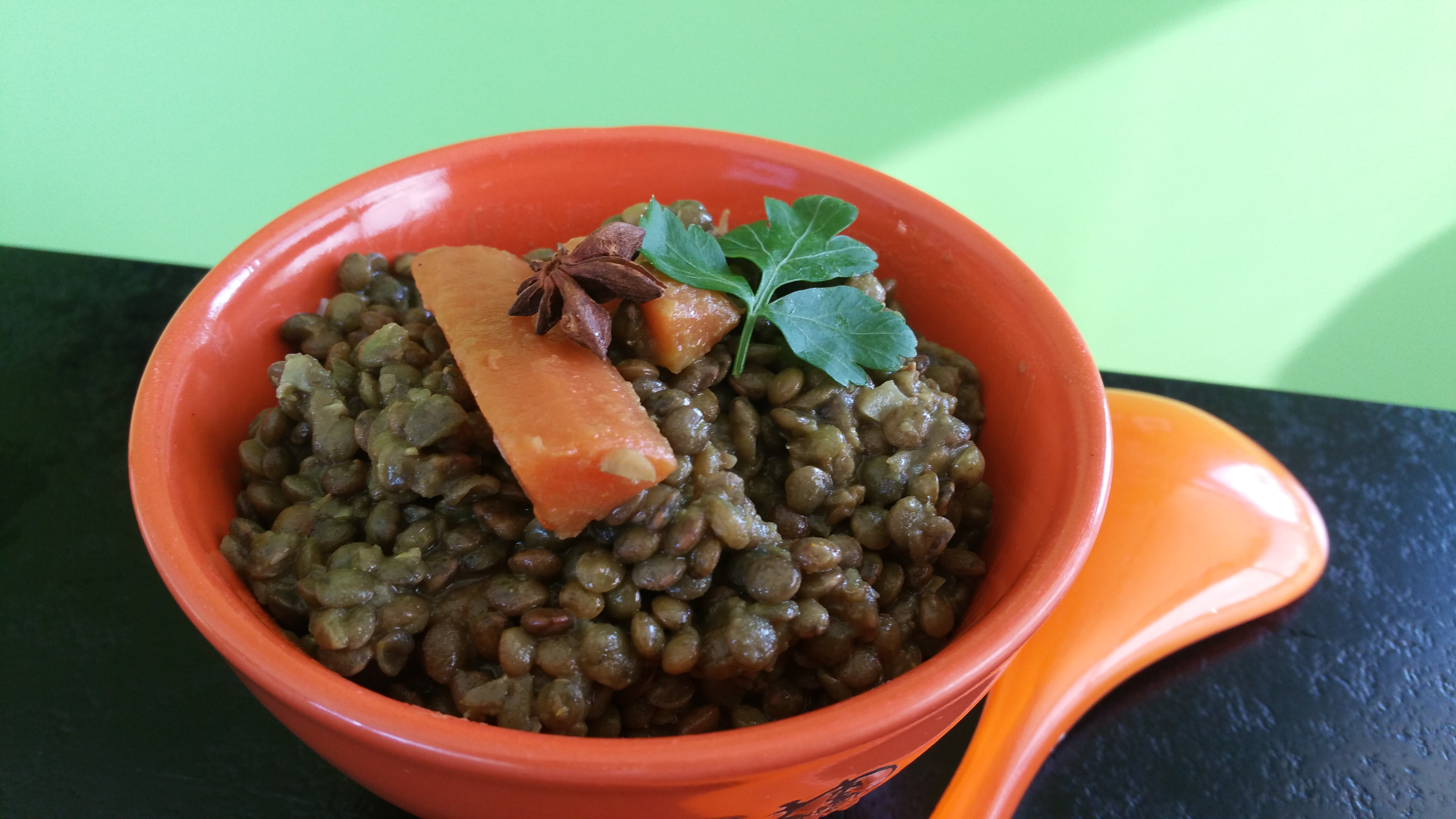 Ragoût de lentilles vertes du Puy