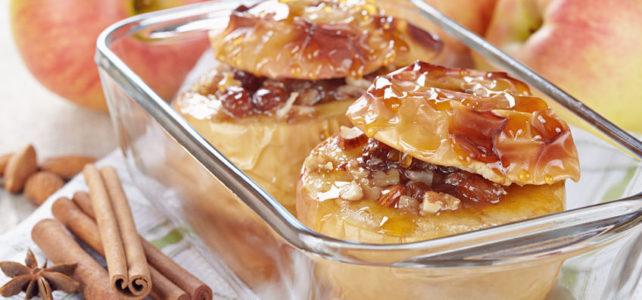 Pommes cuites à la noisette